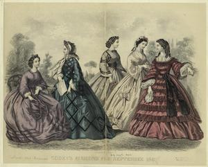 Godey's fashions for September 1862.