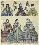Women, A Girl And Bonnets, England, 1860.