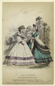 The fashions expressly designed and prepared for the English woman's domestic magazine.