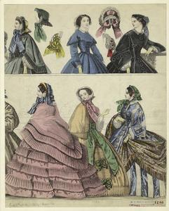 [Women and hats, England, 1860.]