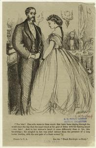 [Man and woman, England, 1860s.]