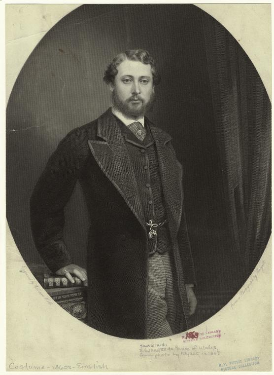 [Edward VII as Prince of Wales, from a photograph by Mayall.]