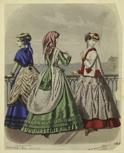 [Young women overlooking ocean, August 1868.]