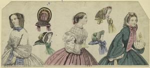 [Women and bonnets, 1860.]