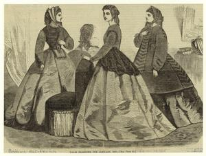 Paris fashions for January, 1865.