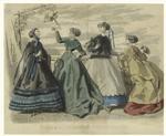 Les Modes Parisiennes, Peterson'S Magazine, April 1867.