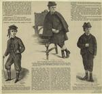 Knickerbockers ; Sack overcoat with cape ; Jacket, vest, and knee pantaloons