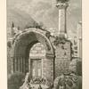 Entrance to the Great Mosque (Jamia el Kebîr), Nâblus.  At the east end of the city; it was originally a church dedicated to St. John