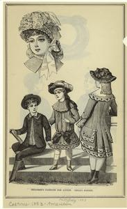 Children's fashions for August ; Child's bonnet.