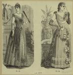 Women in formal dress, England, 1889