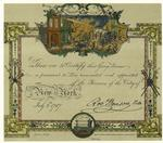 Fireman's certificate, 1787