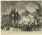 The burning of Barnum's Hippodrome.
