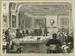 New York City--The court of Arbitration, organized by Act of Legislature for settlement of mercantile disputes without resort to courts of law--the Court in session