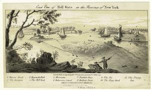 East view of Hell Gate in the province of New York.