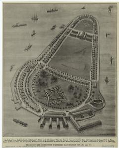 Enlargement and reconstruction of Governor's Island Military Post.