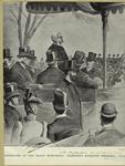 [Ceremonies] at the Grant Monument : President Harrison speaking