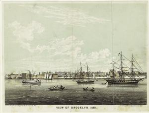 View of Brooklyn, 1840.