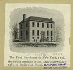 The first poorhouse in New York, 1736
