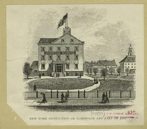 New York institution or almshouse and part of jail.