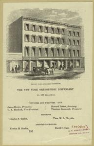 The New York Orthopaedic Dispensary.