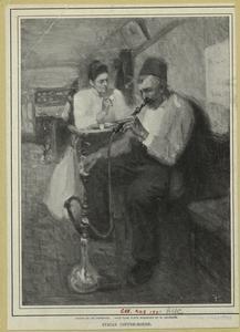 Syrian coffee-house. Digital ID: 805490. New York Public Library