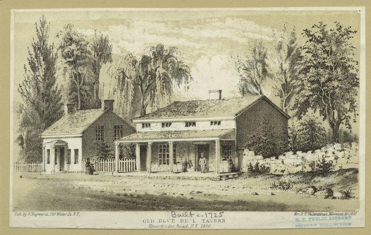 Old Blue Bell Tavern, Kingsbridge Road, N.Y. 1856.