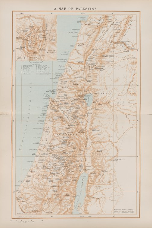 A map of Palestine