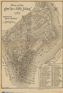 Plan of the City of New York 1767.