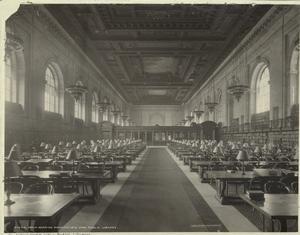 Main reading room, the New York Public Library.