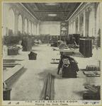 The main reading room : placing the book cases