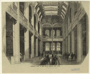 Interior view of the Astor Lib... Digital ID: 805990. New York Public Library