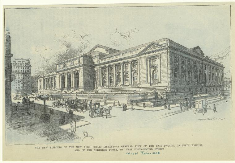The new building of the New York Public Library.
