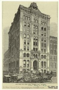 "New York City -- New York ""Evening Post"" building."