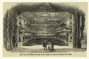 View of the interior of the opera house, at Niblo's Garden, New York.