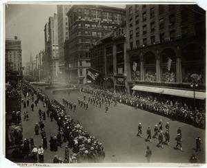 [Parade on Fifth Avenue near Fortieth St., looking north.]