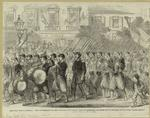 """The Civil War In America. The 5th Regiment Of New York Zouave'S Passing Through Broadway On Their Way To Embark For The War """"Down South."""""""