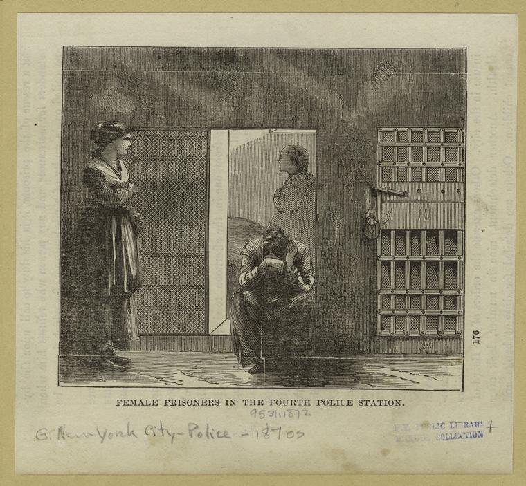 Female prisoners in the fourth police station.