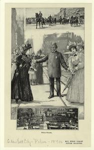 Police parade. (1876) on NYPL.org