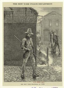 The New York policeman of 1693.