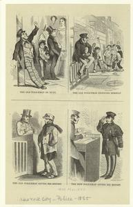 [Examples of the police as they were, and an example of what they soon will be.]