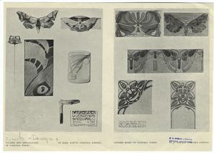 Studies and applications of natural forms by Karl Schütz (Cortina School) ; Studies based an natural forms by F. Oswald (Cortina School).