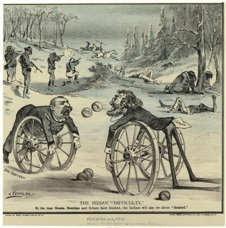 This is What Joseph Keppler and The Indian Difficulty Looked Like  on 1/22/1879