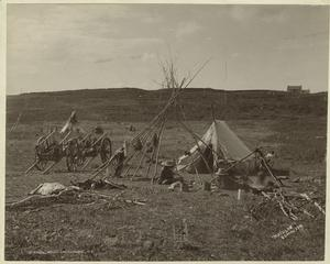 A typical Indian encampment.