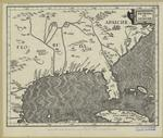 Earliest map showing location of the Cherokees--1597.