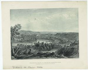 Prehistoric Indian village on the Minnesotta [sic] River.