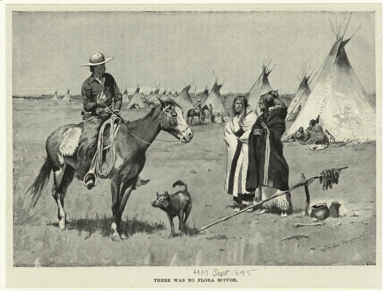 Fascinating Historical Picture of Frederic Remington on 9/1895
