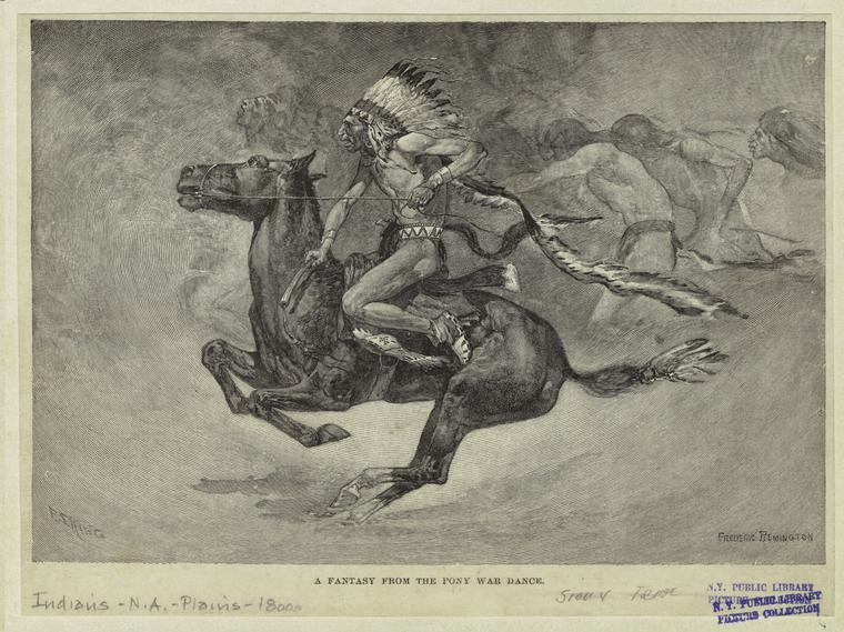 Fascinating Historical Picture of Frederic Remington on 12/1891