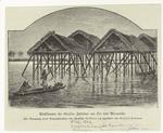 Pfahlbauten der Goajiro Indianer am See von Maracaibo.