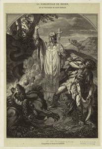 La gargouille de Rouen, et le privilege de Saint Romain.