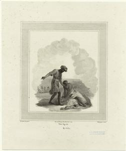 [Man directing woman with baby.]
